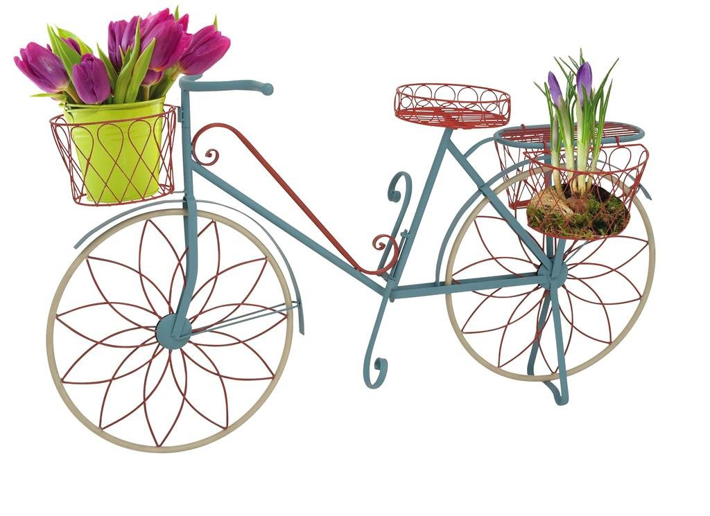 Deco 79 Metal Bicycle Plant Stand, 54 by 32-Inch, Green by Deco 79