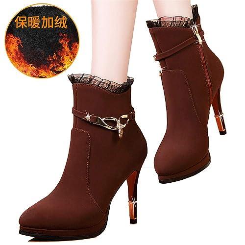 Shirloy Botas para Mujer Zapatos Gran tamaño para Mujer Tacones ...