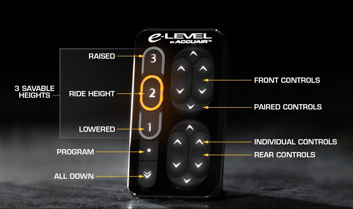 Accuair E Level Air Management Package Amp Nickel Viair Compressor Wiring Diagram Finish Touchpad Bronze Cerakote 5 Gal 4 Corner Tank Automotive