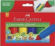 Cola Colorida 6 Cores 23g, Faber-Castell, HT170106, Multicor