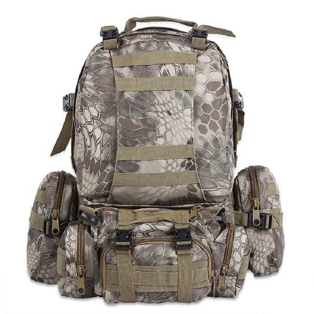 JITALFASH 50L Outdoor Waterproof Backpack Molle Military Tactical Backpacks Rucksack Sports Bag CP 50-70L