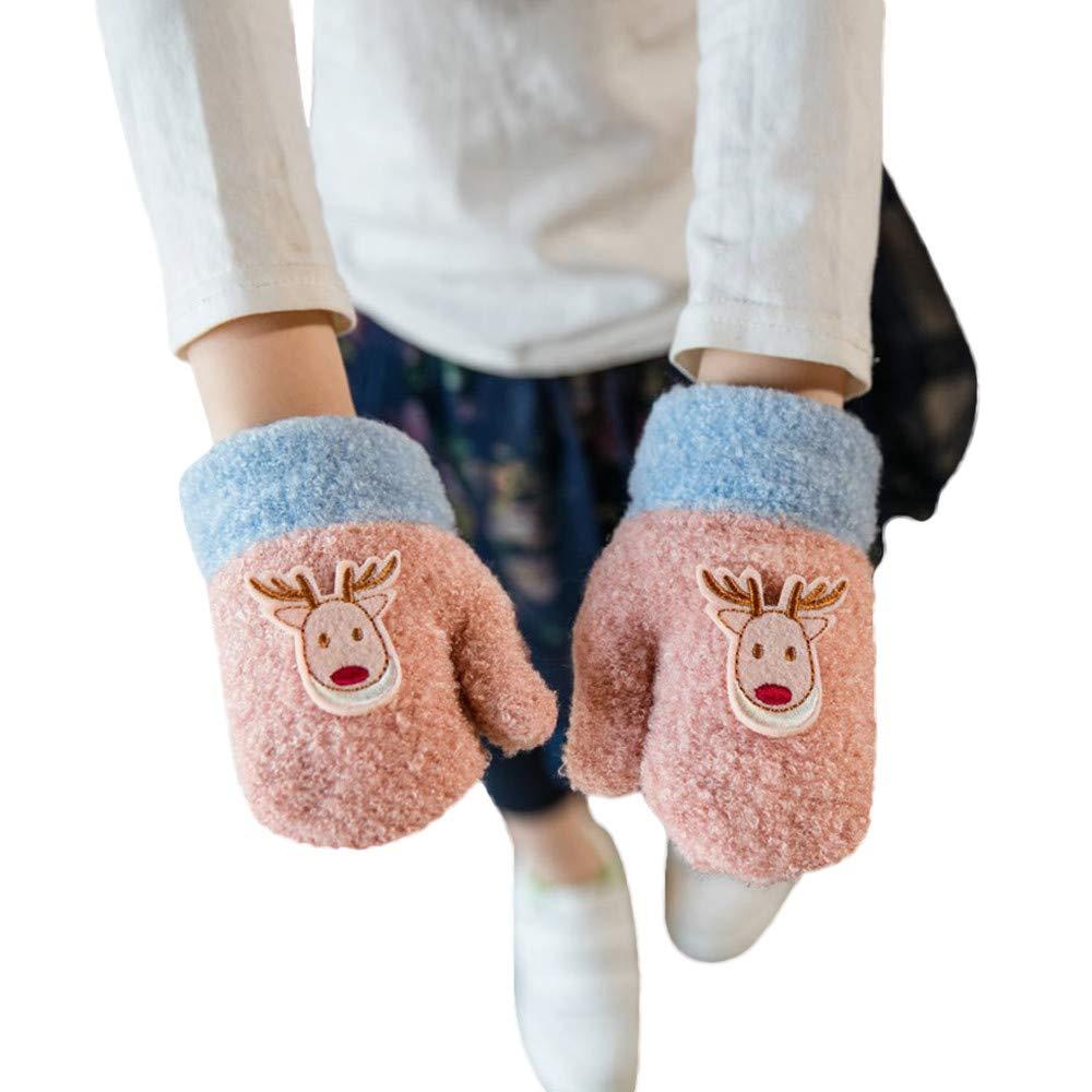 Baby Winter Gloves,Christmas Gift,Gallity Toddler Baby Girls Boys Little Deer Print Winter Warm Kids Gloves