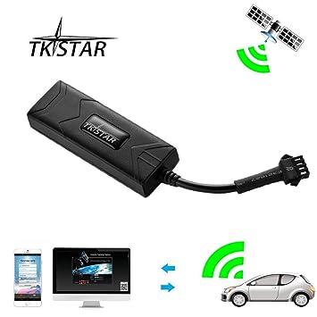 GPS Tracker, TKSTAR Auto Camión Vehículo Tiempo real GPS tracker gps antirrobo Localización Mini GSM