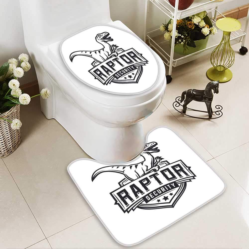 Analisahome Non-slip Bath Toilet Mat raptor sport logo mascot design vintage college team coat of arms in Bathroom Accessories