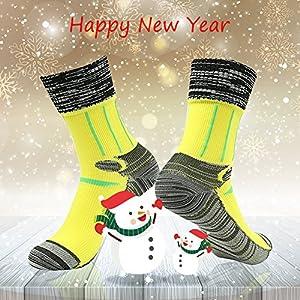 [SGS Certified] RANDY SUN Unisex Waterproof & Breathable Hiking/Trekking/Ski Socks, Grey-1 Pair, Large