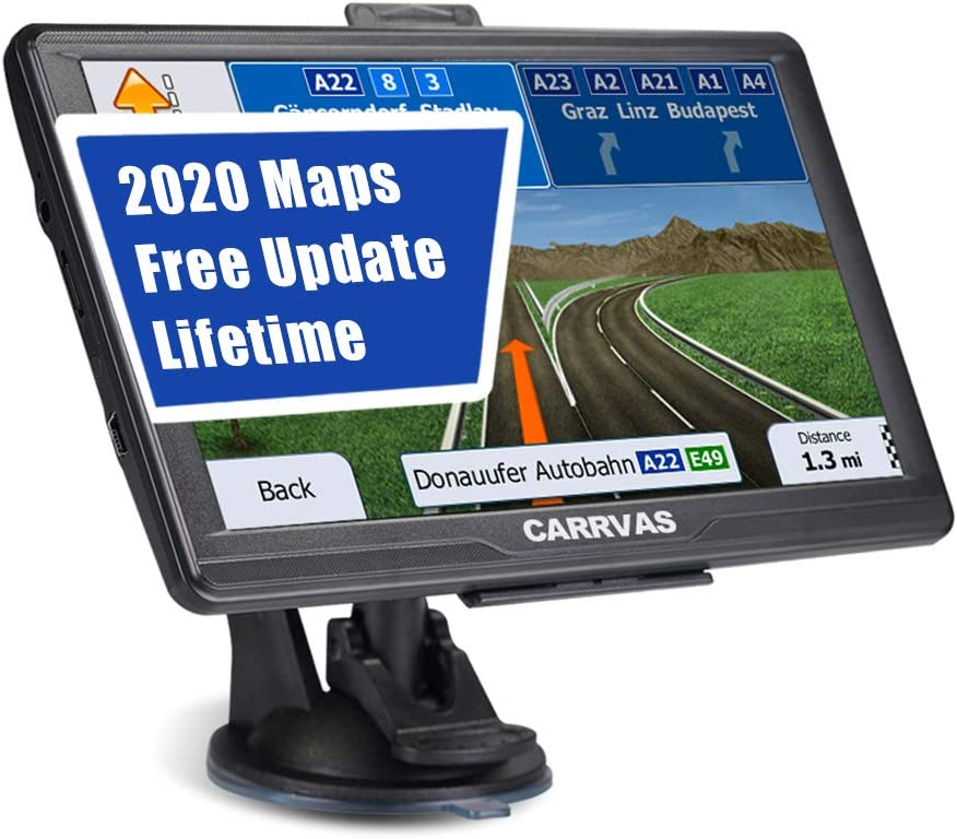 GPS Navigation for car, 7inch Vehicle GPS Satellite Navigation System for Cars, Voice Turn Direction Reminder, Truck Route, Lifetime Free Update Map