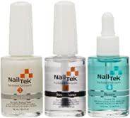 NAIL TEK New Restore Damaged Nails Kit, Intensive Therapy Foundation and Renew, 0.5 fl. oz.