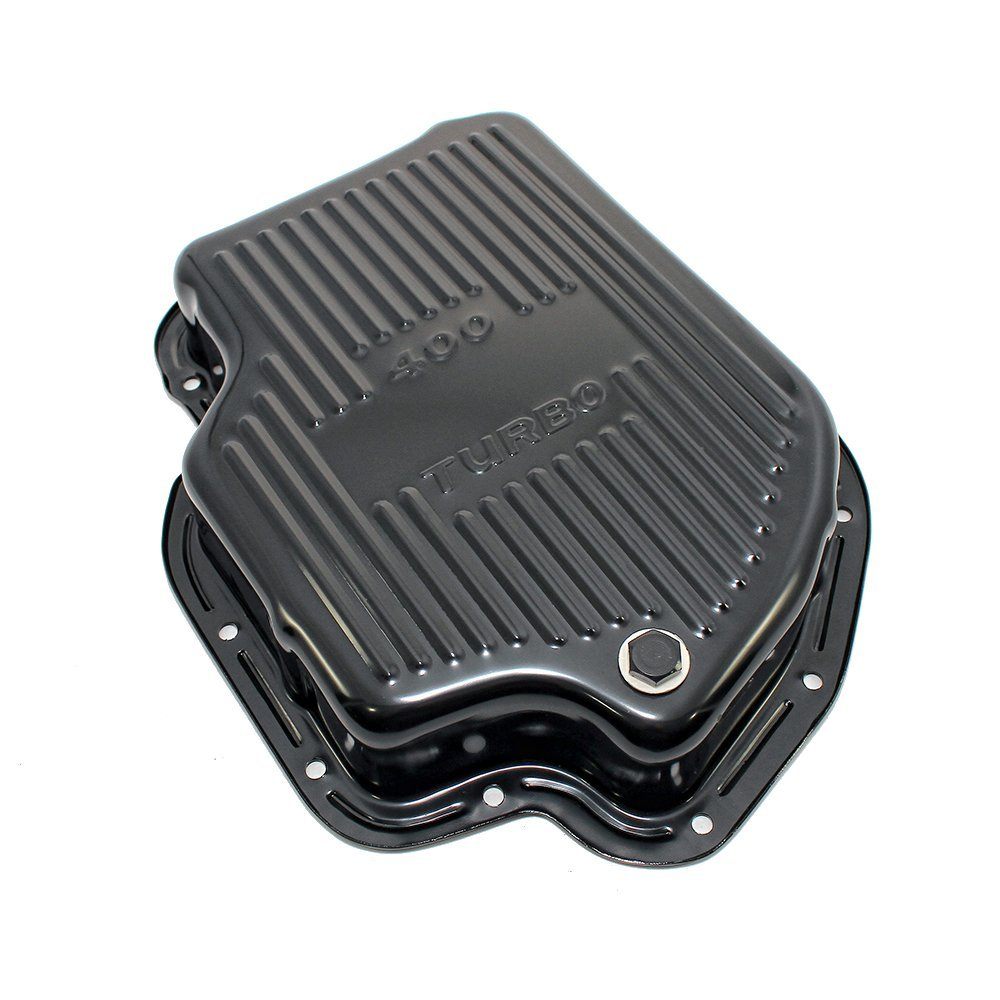 Assault Racing Products A9197PBK GM Chevy Turbo 400 Black Steel Transmission Pan Extra Capacity TH400