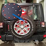 JKCOVER Jeep Modified Spare Tire Light LED Rear Tail Light for Jeep Wrangler JK 2007-2016 JKU Unlimited 4 door (Red 3rd Brake Light)