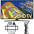 Samsung UN40KU6300 40-Inch 4K UHD HDR LED Smart TV with Slim Flat Wall Mount Kit and 6 Outlet Power Strip and Dual USB Ports