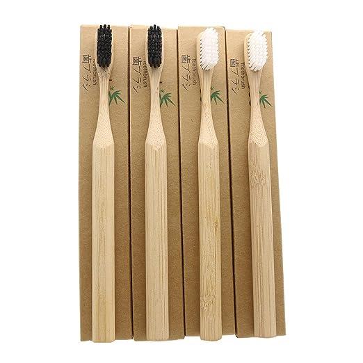 n-amboo medio ambiente Biodegradable cepillo de dientes de bambú ...