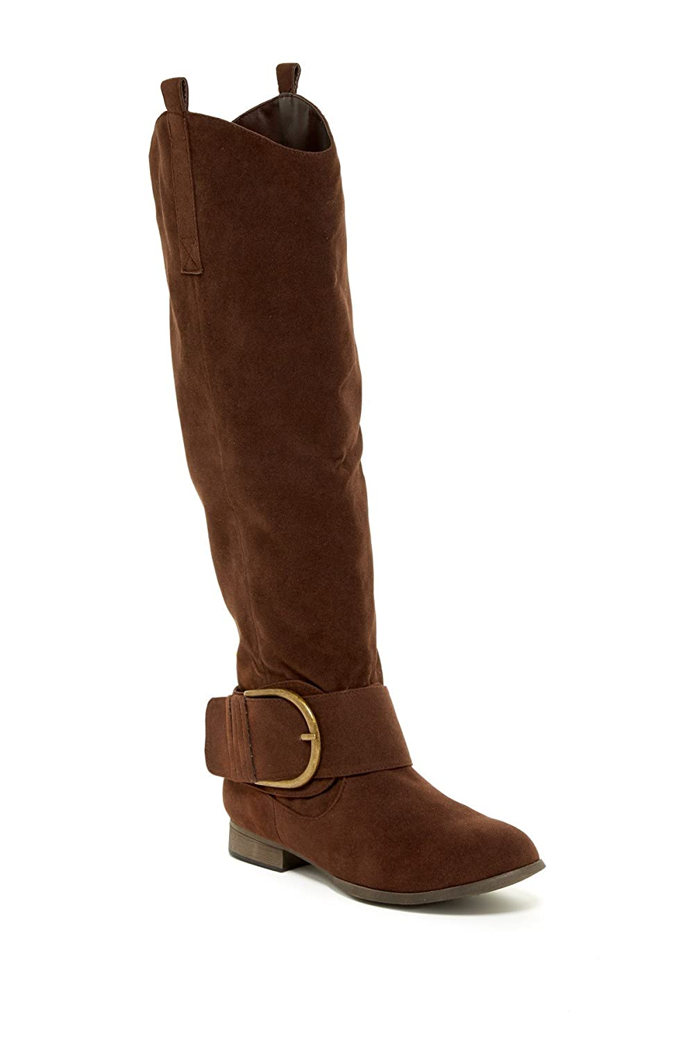 Charles Albert Knee-High Riding Boot with Horseshoe Buckle