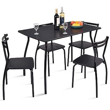Amazon.com: giantex 5 piezas Juego de mesa y 4 sillas de ...