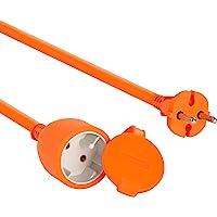 Electraline 1357 01357 Verlengsnoer voor de tuin, 30 m, witte kunststof kabel, IP20, verlengkabel met kinderbeveiliging…