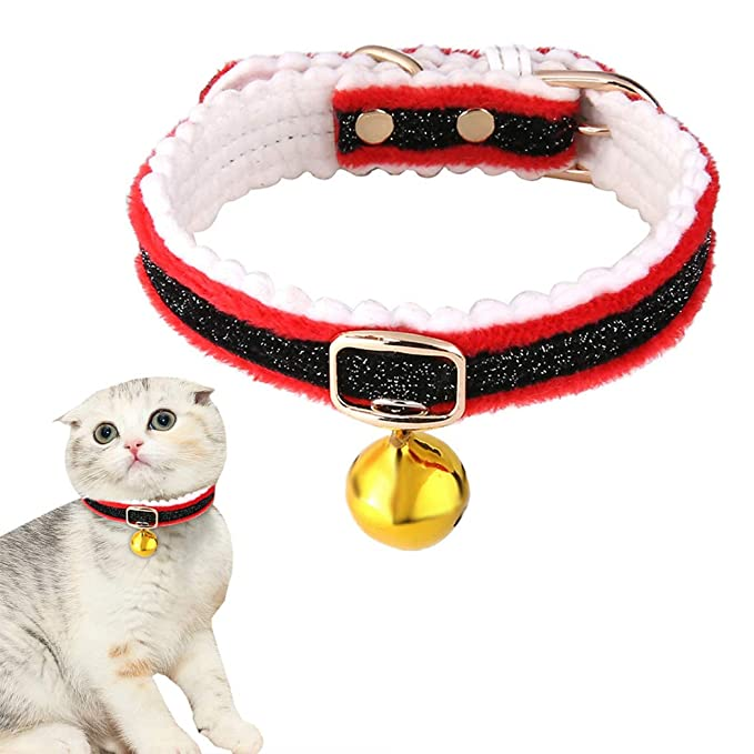 Bangcool Collar para Gato, Collar de Navidad para Mascota, Campana ...