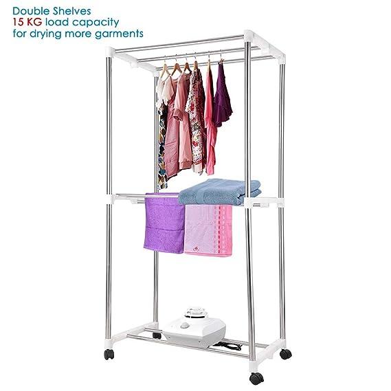 Yescom eléctrico portátil secador de ropa 1000 W calefactor plegable secado máquina: Amazon.es: Grandes electrodomésticos