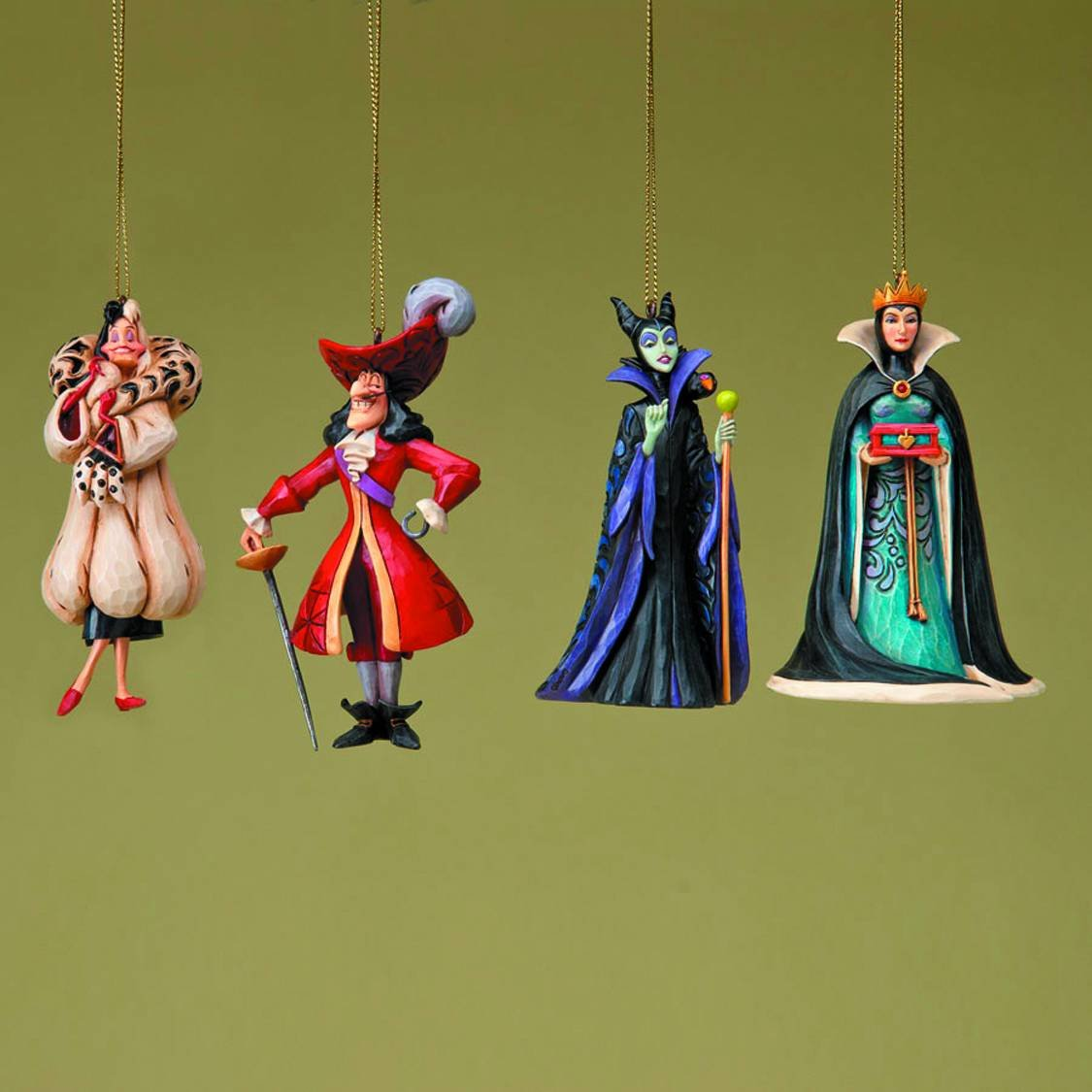 Disney figure Jim Showa Cruella Captain Hook 'Disney Villians Ornaments Set of 4' 4023566