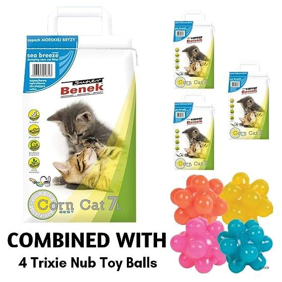 Super Benek Arena de maíz Natural para Gatos con Aroma a ...