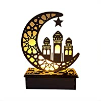 Cowslip Ramadan Houten eieren Mubarak - DIY Ramadan decoratie Eid Mubarak decoraties van hout Ramadan lichten met LED…