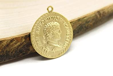 Amazon com: Golden Horn Jewelry Supplies 1 Pc Ancient Greek Coin