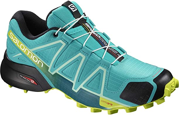 Salomon Speed Cross 4 traillaufschuhe, bleu azur/jaune fluo/noir, 42: Amazon.es: Deportes y aire libre