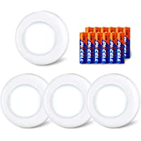 HOT! LED Night Lights Home Cabinet Push Tap Stick Battery On Lamp Powered E9V3