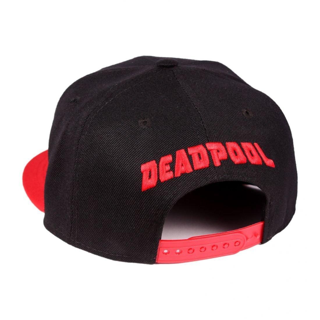 33bb9a94919 Marvel Deadpool Cap Snapback Black Onesize  Amazon.co.uk  Clothing