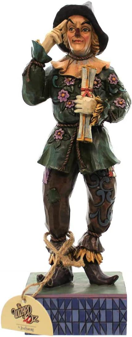 Jim Shore Wizard of Oz If I Only Had a Brain Scarecrow with Diploma Figurine