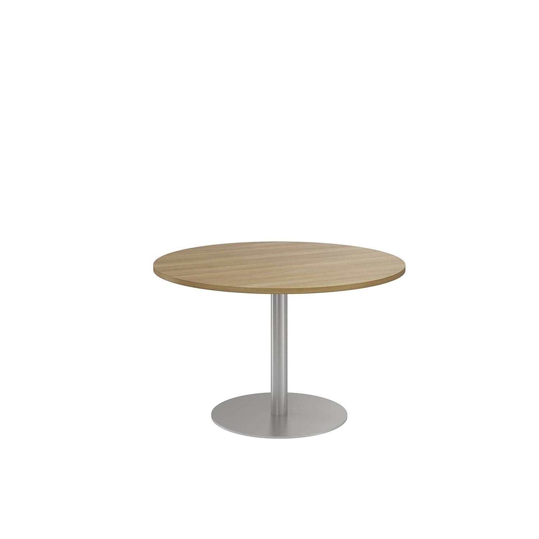 NOVA ECO High Quality Circular Meeting Table, Column Base, WALNUT