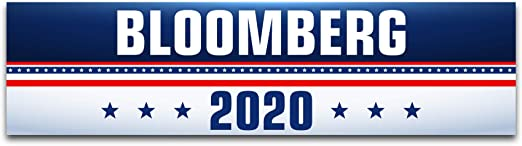 """Inspiring Press Michael Bloomberg for President 2020 Premium Oval Bumper Sticker 6/"""" x 4/"""" Printed in The USA"""