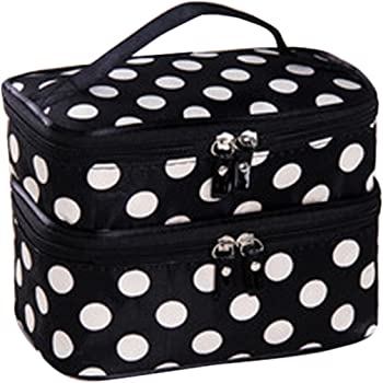 JOVANA Double Layer Travel Toiletry Cosmetic Makeup Bag