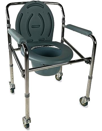Mobiclinic Silla con WC/Inodoro | Plegable | con Tapa, Ruedas y reposabrazos Acolchados. #2