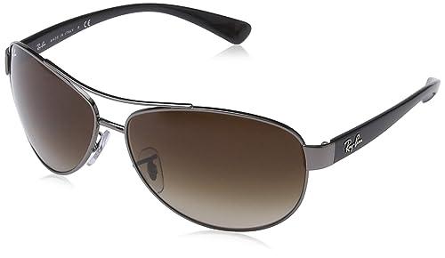 Amazon.com: Ray-Ban RB3386 de los hombres Aviator anteojos ...