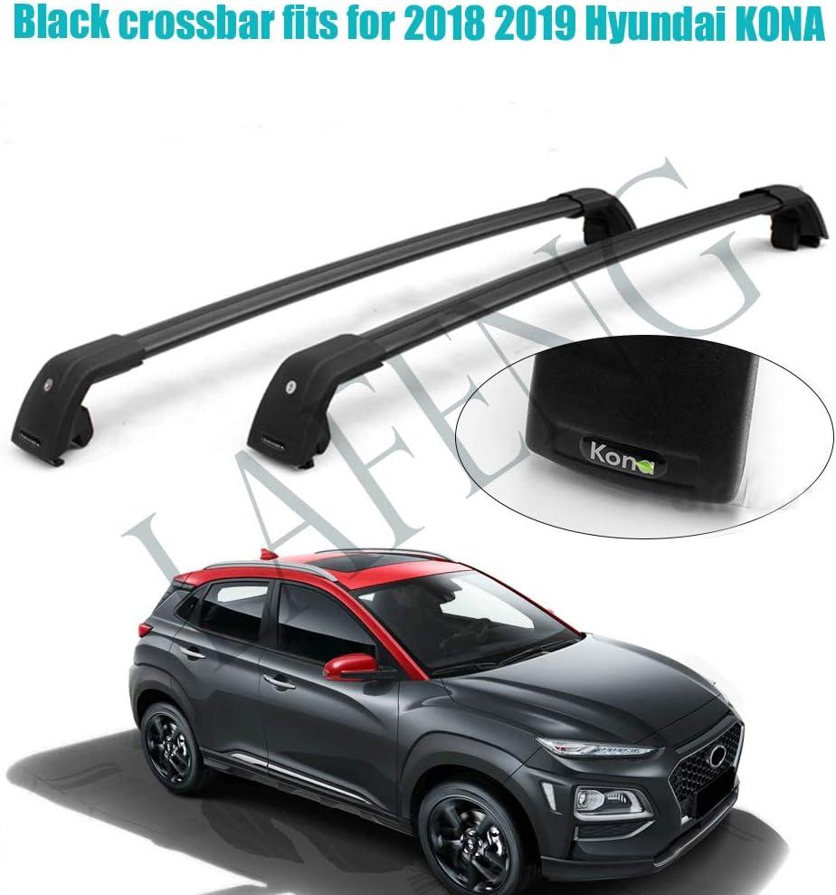 Lafeng Schwarze Querstange Passt Für 2018 2019 Hyundai Kona Gepäckträger Dachträger Starke Dachträger Auto