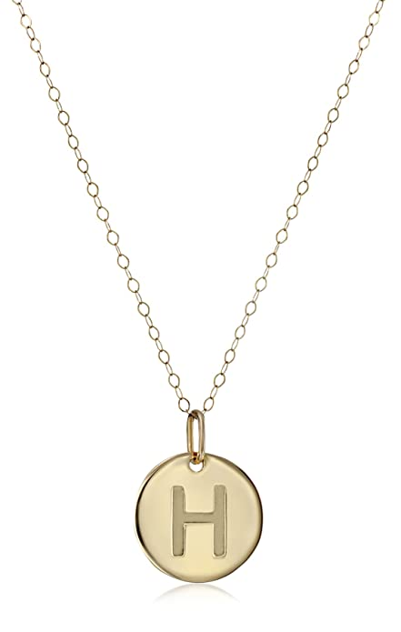 0f51f1b42dd8f Duragold 14k Yellow Gold Initial Pendant Necklace, 18