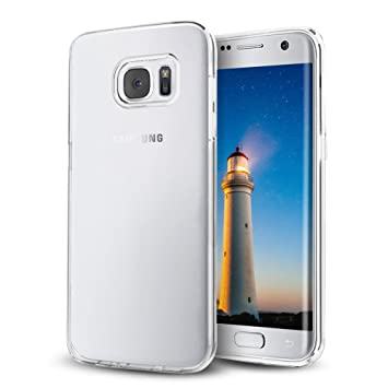 Samione Funda Galaxy S7 Edge, Galaxy S7 Edge TPU Funda [Cristal Claro] Funda Carcasa Case Cover para Samsung Galaxy S7 Edge, Transparente