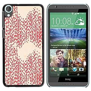 Be Good Phone Accessory // Dura Cáscara cubierta Protectora Caso Carcasa Funda de Protección para HTC Desire 820 // Pink Peach Pattern Dots Abstract