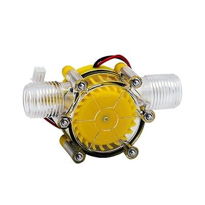 SAVEMORE4U18 10W Water Turbine Generator Micro Hydroelectric DIY LED Power DC 12V Water Flow Generator Micro-Hydro Water Charging Tool (Yellow) : Garden & Outdoor