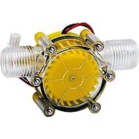 10 Watt Wasser Turbine Generator Micro Hydroelektrische DIY LED Power DC 12 V Wasserstrom Generator Micro-hydro Wasser Ladewerkzeug (Gelb)