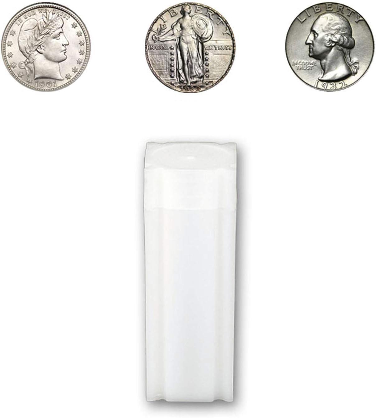 Coin Supplies 5 CoinSafe HALF DOLLAR Square Coin Tube