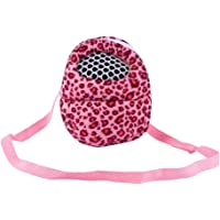 Three Size Small Pets Carrier Bag Hedgehog Hamster Mouse Outgoing Bags Leopard Portable Travel Backpack With Strap, Three Color