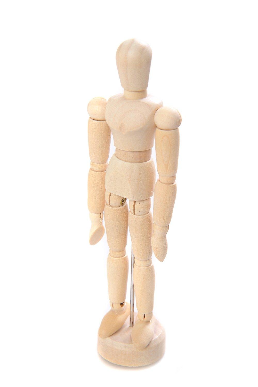 Abakus Artist: manichino snodato / manichino da belle arti / fantoccio / mannequin di legno 14cm hoch AMP-14cm DE