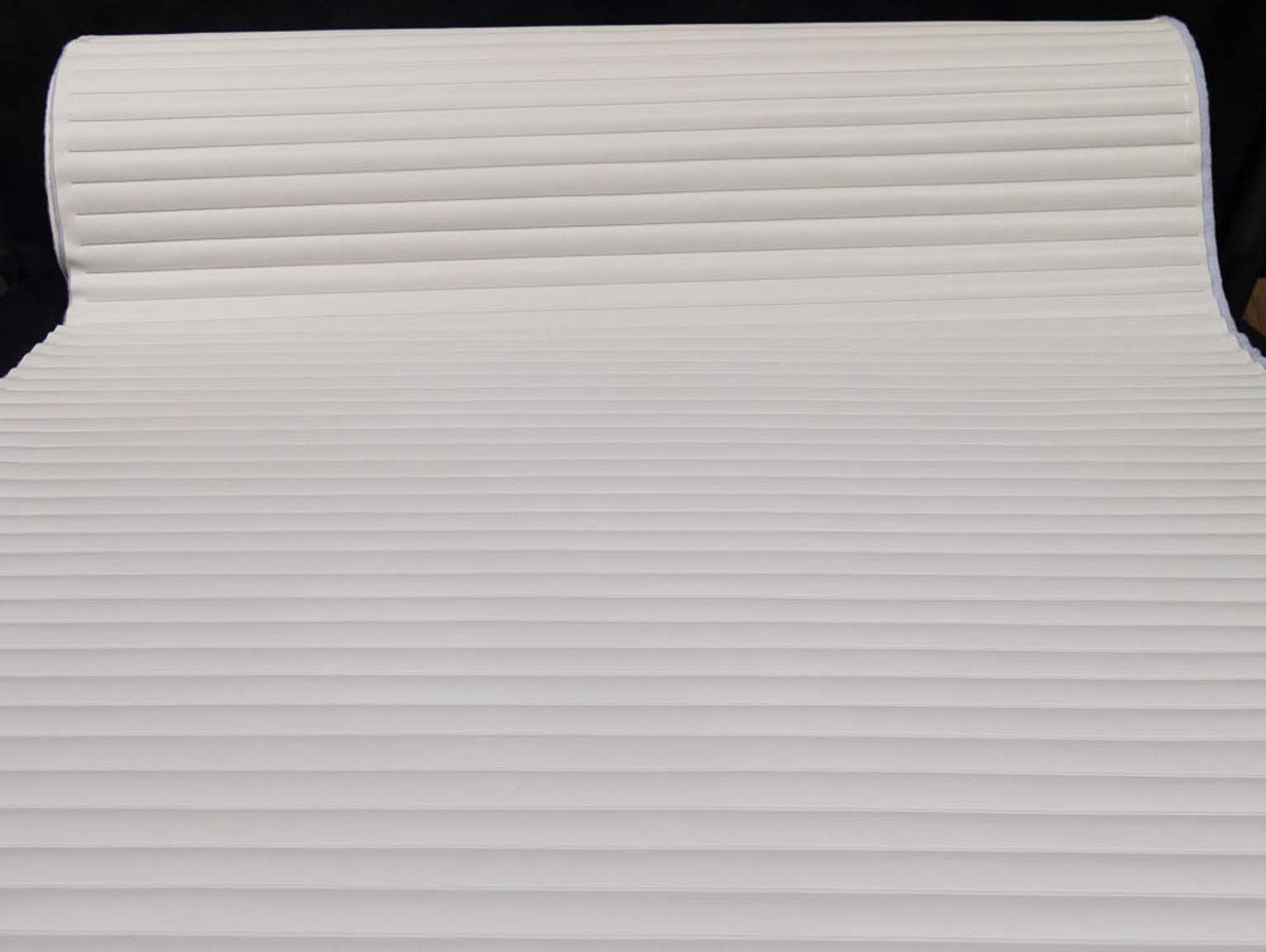 Pleated Marine Vinyl Upholstery Fabric Bright White 54'' Wide by 5 Yards Boat Auto by Bry-Tech Marine1 (Image #2)
