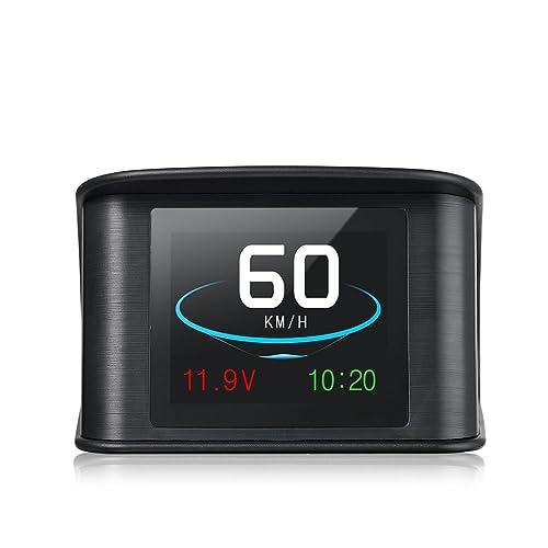 HUD GPS Intelligent Numérique LCD Compteur 9 V à 16 V Conduite Vitesse Tension Unique Distance Conduite Distance Totale Temps Alarme de Vitesse Commutation Fréquemment entre Kilomètres et Miles