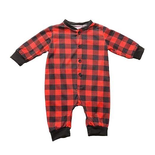 amazoncom parent child service home service red christmas lattice pajamas button matching family christmas pajamas home set clothing