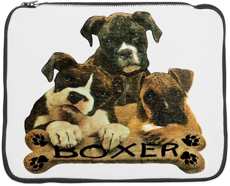 15 Inch Laptop Sleeve Boxer Trio with Bone Name Plate