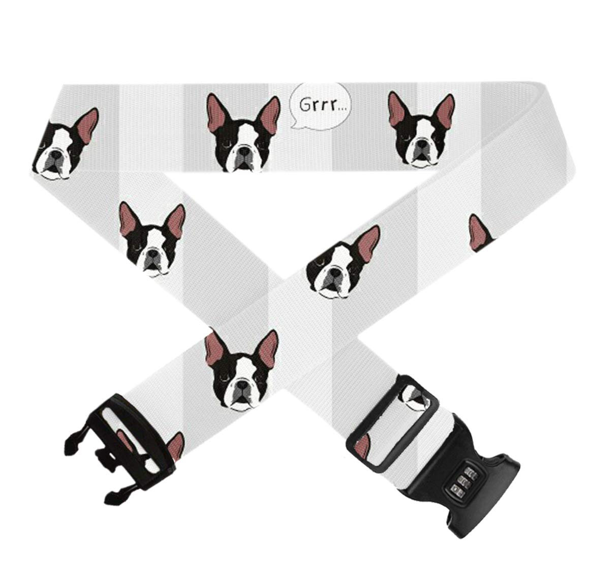 1 Pack Luggage Straps Bag Adjustable Belt Fashion Durable Travel Bag Accessories GLORY ART Suitcase Straps Funny Winer Dog Head