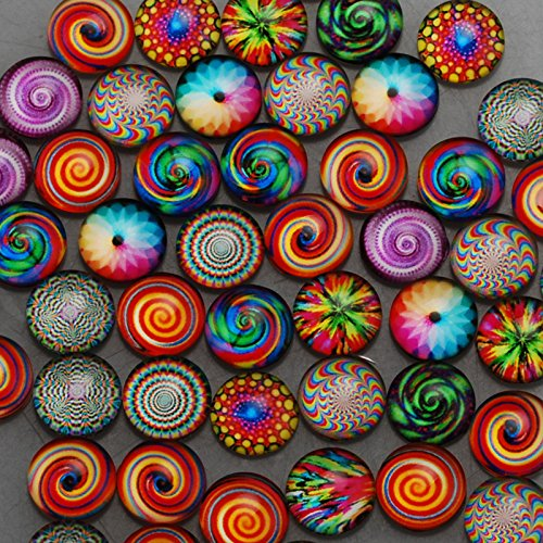 12mm Round One Style Mix Pattern Photo Glass Cabochon thickness 4.5mm,50 pieces/lot (1001057)