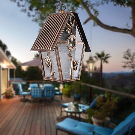 Europea al aire libre impermeable araña uva rack jardín pérgola suspensión luz moho prevención aluminio con vidrio cortina impermeable decorativa valla techo lámpara colgante (Color : Bronze): Amazon.es: Hogar