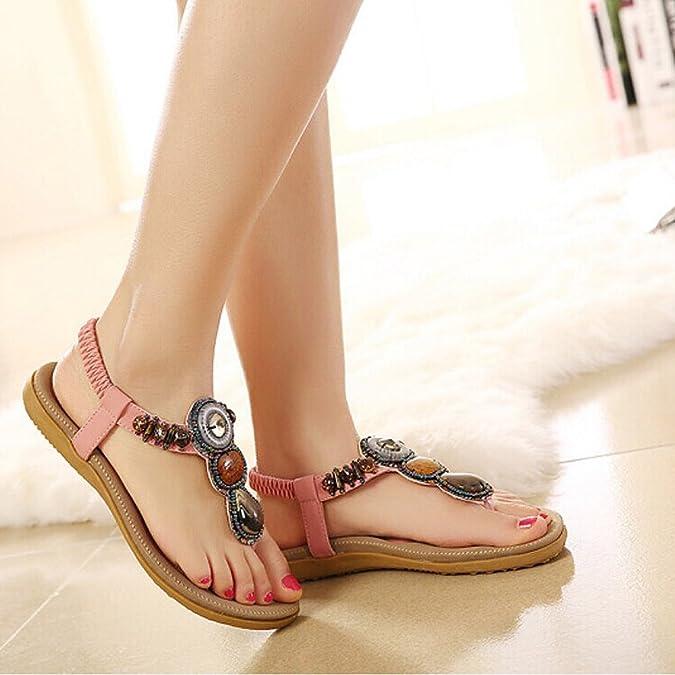 Zicac Zapatos con Tacón Mujer, Color Rosa, Talla 37 EU
